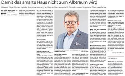 Interview Thomas Gehre - Hannoversche Allgemeine